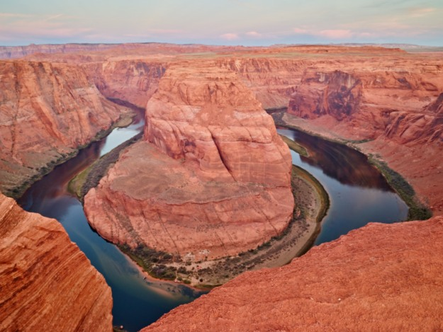 Horseshoe Bend where the Colorado River does a 180.