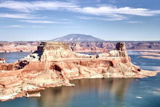 Navajo Mountain overlooking Lake Powell