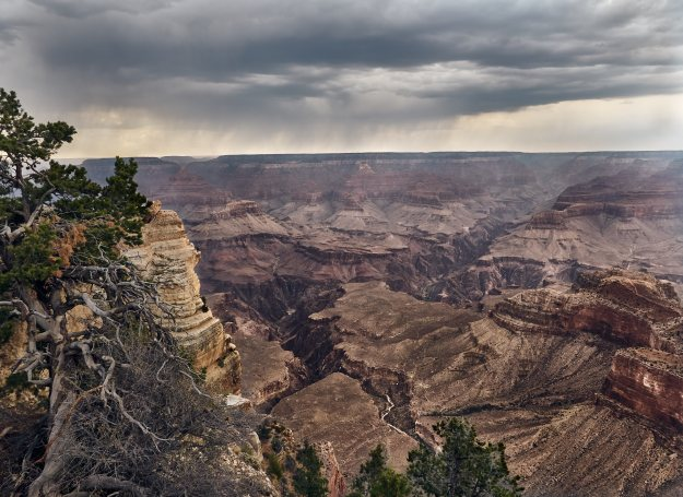 Rain over the Grand Canyon