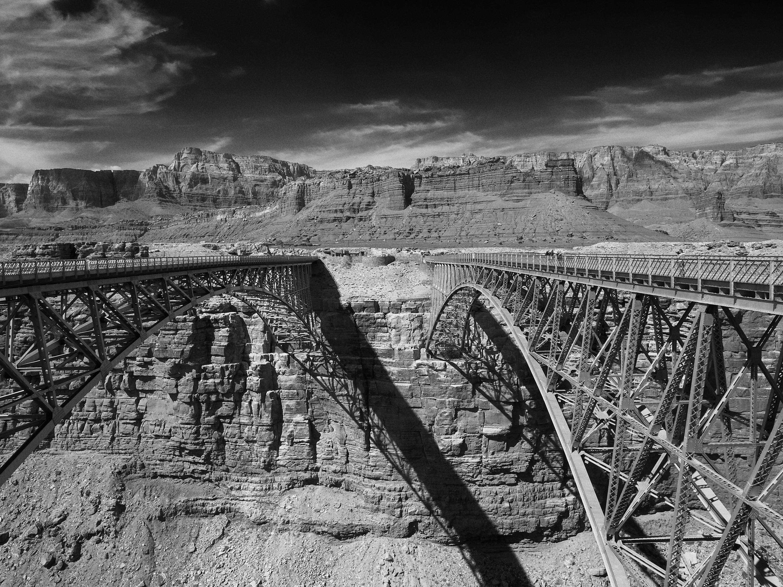 Navajo Bridge Monochrome